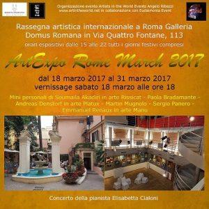 Flyer-Fronte-ArtExpo Rome March 2017 RR